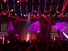 "Eurovision: You Decide at Hammersmith Apollo - Olivia Garcia singing ""Freedom Hearts"""